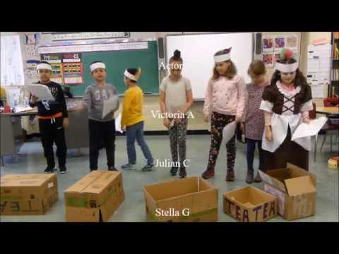 Garden School Third Grade  The Boston Tea Party  April 2018