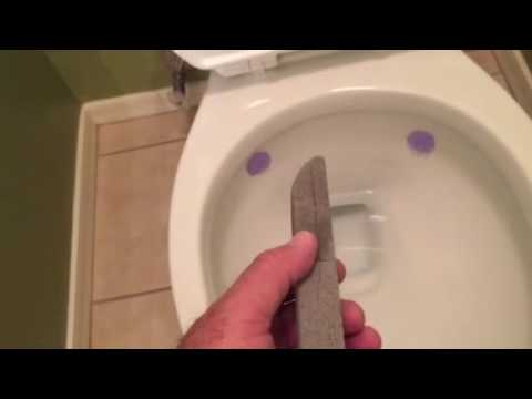 Hard water stains in your toilet