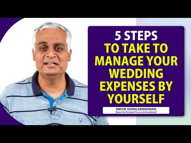 5 Steps to Take so You Can Manage Your Wedding Expenses