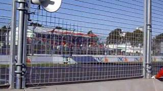 Australian Grand Prix Melbourne 2009 Warm Up Lap - Pit Straight