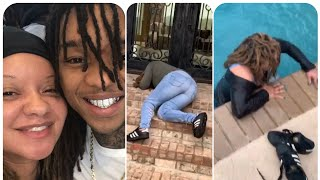 Swae lee mom freaks out at her new house they bought her!