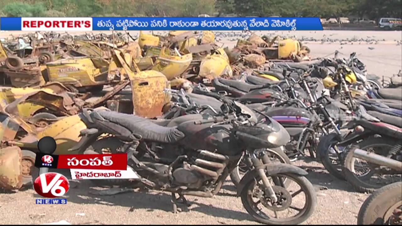 Special Report On Scrap Vehicles in Police Stations | Hyderabad ...