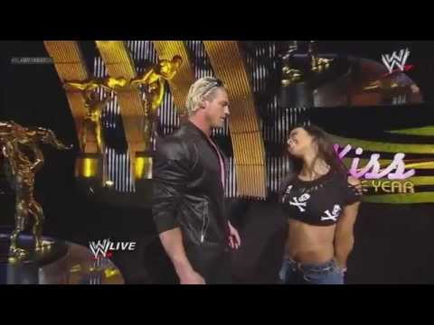 AJ Kisses Dolph Ziggler  WWE Slammy Awards 2012 Kiss Of