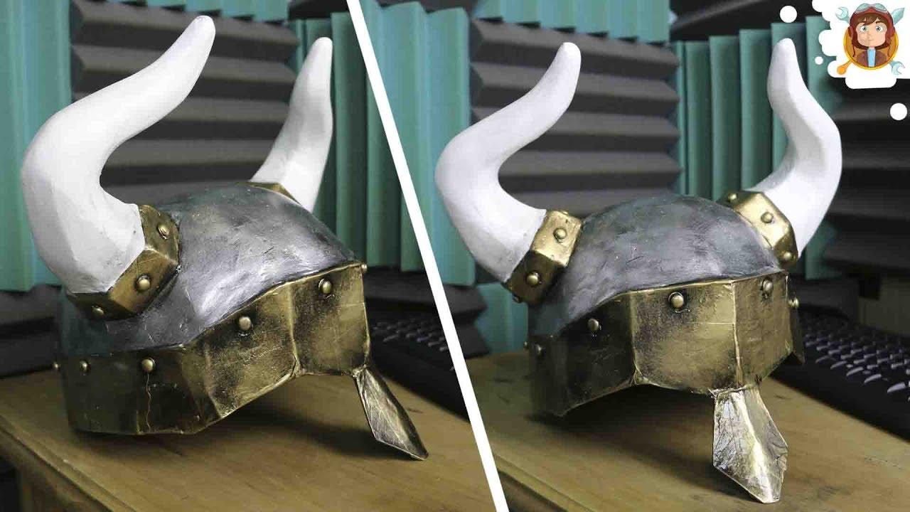 Como hacer un Casco Viking - (Papel y Carton) - YouTube