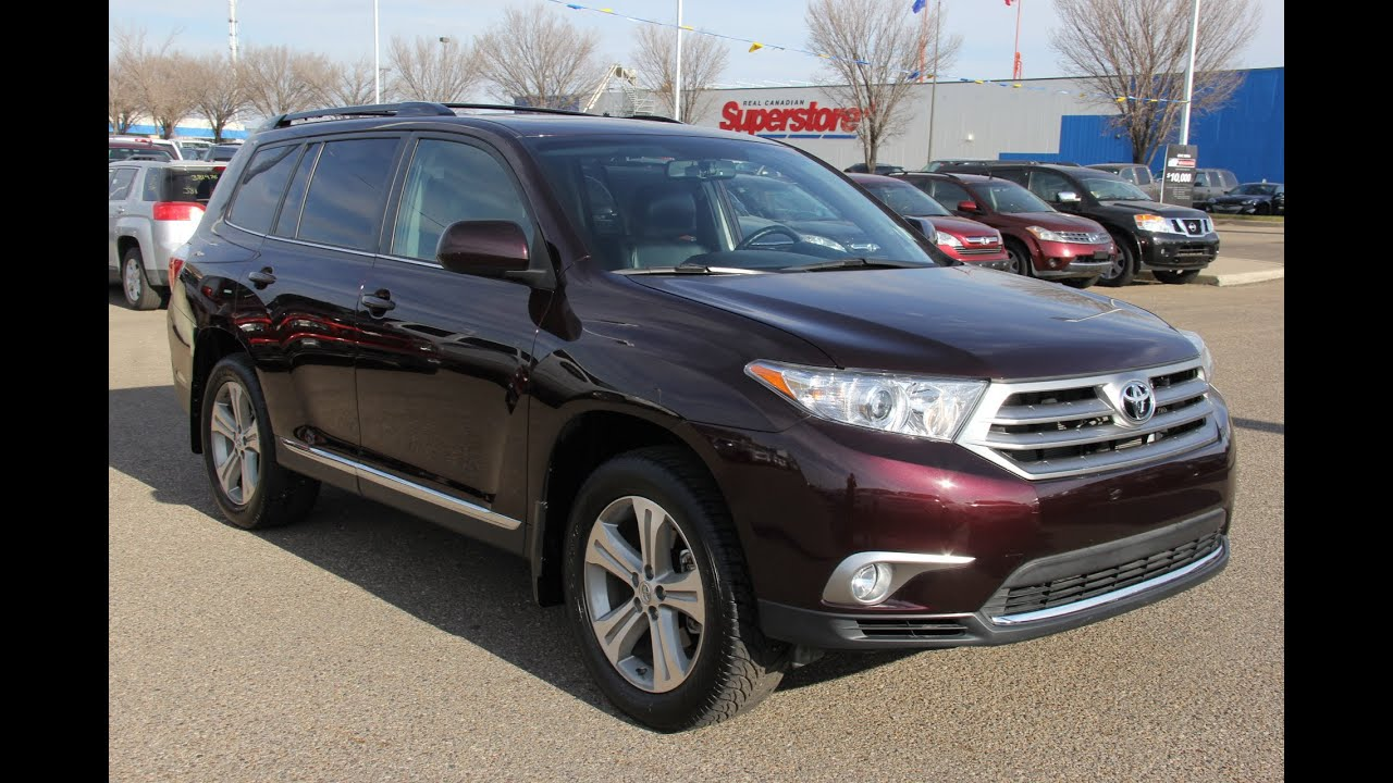 2013 Toyota Highlander For Sale >> Certified Pre Owned 2013 Toyota Highlander V6 For Sale In Medicine