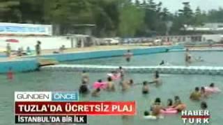 HABERTÜRK - Tuzla'da İstanbul'un tek ücretsiz plajı açıldı