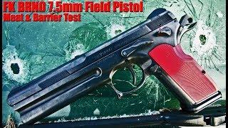 FK BRNO 7.5mm Pistol: VS Meat Bone Drywall & Car Windshield