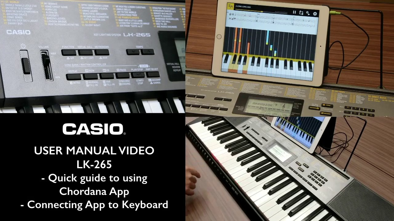 4 1 casio lk 265 tutorial chordana app overview connecting to keyboard youtube. Black Bedroom Furniture Sets. Home Design Ideas