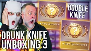 CS:GO DRUNK DOUBLE KNIFE UNBOXING WITH PAPA