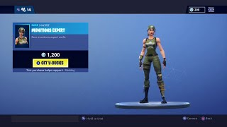 RARE MUNITIONS EXPERT SKIN BACK OUT || FORTNITE ITEM SHOP FEBRUARY 18TH