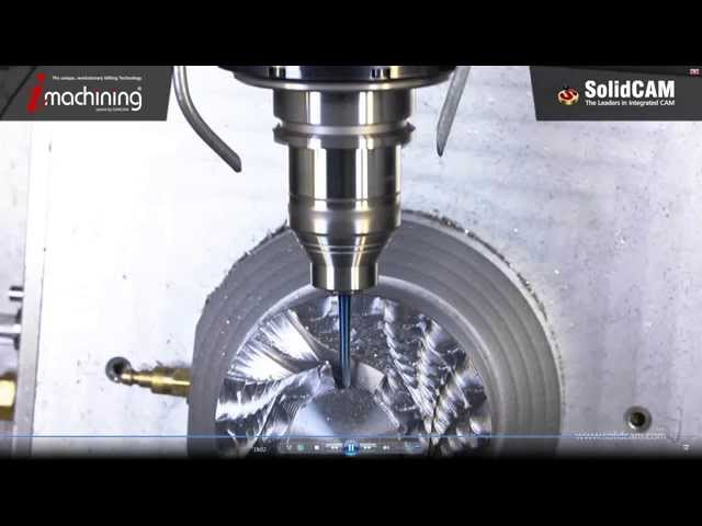 Machining an Impeller using iMachining 3D & Sim. 5x