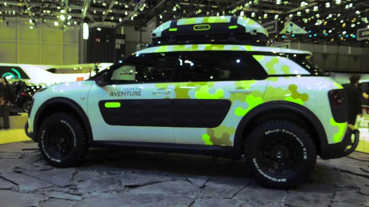 Citroen C4 Cactus Green >> Citroen C4 Cactus Adventure at Geneva Auto Show 2014 | AutoMotoTV - YouTube