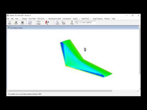 Onera M6 Wing CFD Solution using Stallion 3D