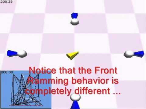 Evolved Agents: Front/Back Ramming Game: Multitask Learning