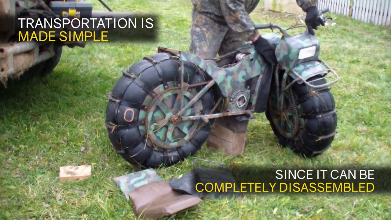 taurus 2x2 2wd foldable russian made motorcycle youtube