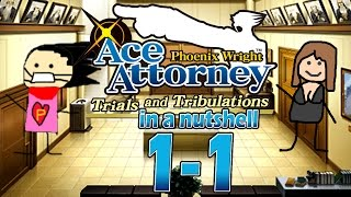 Phoenix Wright Ace Attorney: Trials And Tribulations In A Nutshell -  Case 1 - Trial