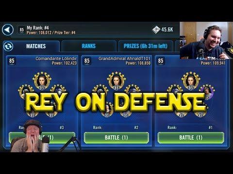 Star Wars: Galaxy Of Heroes - Jedi Training Rey - Good On Defense?