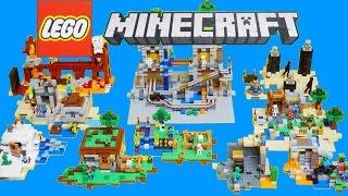 레고 마인크래프트 장난감 14,15년 전제품 스톱모션 Lego Minecraft Toys 2014 - 2015(All) Stop Motion Build