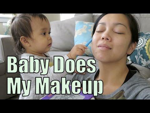 Baby Does My Makeup! - September 26, 2015 -  ItsJudysLife Vlogs