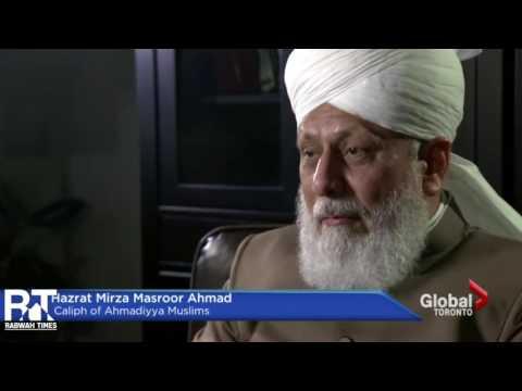Global News: Khalifa of Islam Ahmadiyya Interview on arrival in Canada