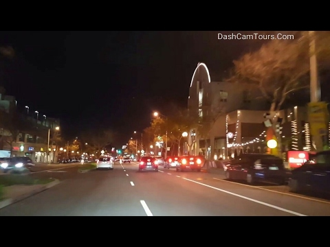 Los Angeles Driving Tour: Night Driving from Pacific Ocean to Culver City Creative Studios