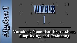 Algebra I: Variables
