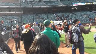 Super Sanchez Kids @ AT&T Park - Running the Bases