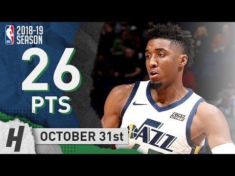 Donovan Mitchell Full Highlights Jazz Vs Timberwolves 2018.10.31 - 26 Points!