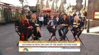 Rupert Grint, Evanna Lynch & Jason Isaac on The Today Show at the WWoHP