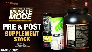 Muscle Mode - Pre & Post Workout Supplement Stack   Design & Created by Guru Mann