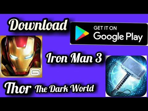 Download Iron Man 3 And Thor- The Dark World( TDW) Game On Android For Free