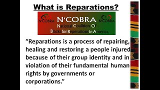 What is REPARATIONS? By Dr. Chike Akua