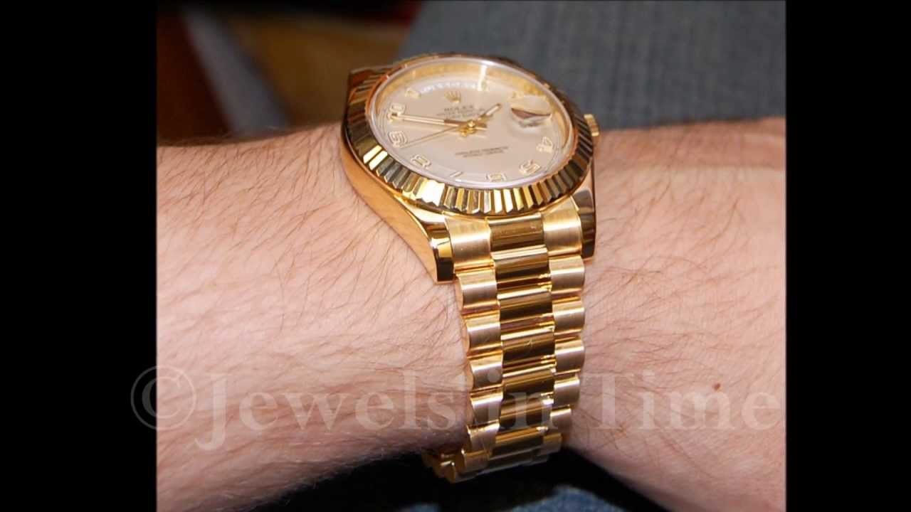 Rolex Day Date Ii President 18k Yellow Gold Jewels In Time
