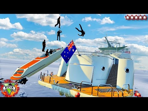 GTA 5 New Yacht Glitches & Stunts - GTA 5 Funny Moments (GTA 5 Yacht)