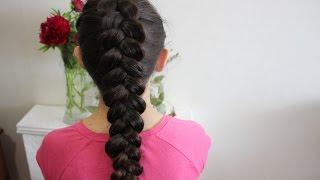 Как заплести французскую косу (колосок) наоборот. Голландская коса\Dutch braid tutorial