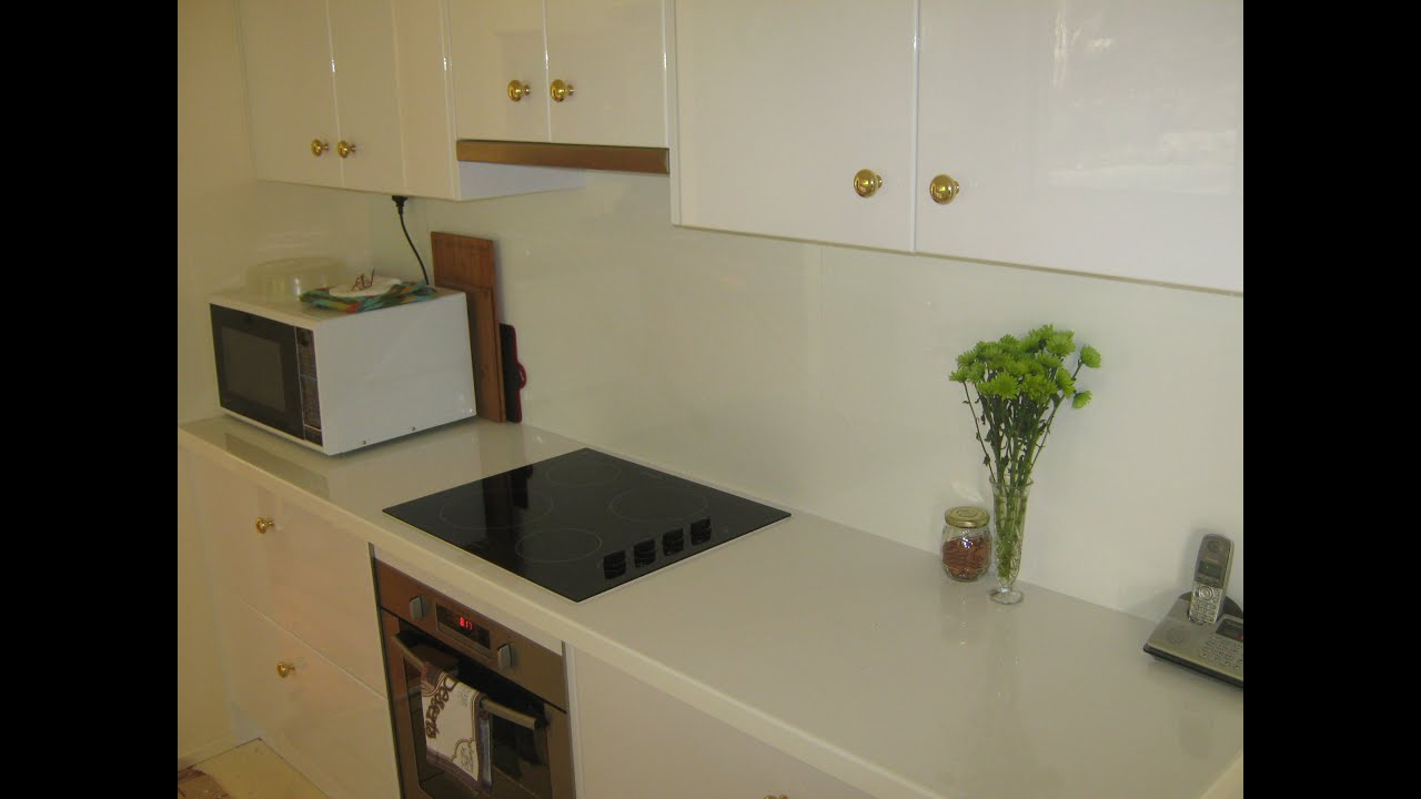 etched bench panels doors kitchens woodworks goulburn bottom glass gloss with white top simpson and