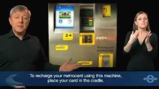 Recharge your metrocard using a machine onboard trains and trams