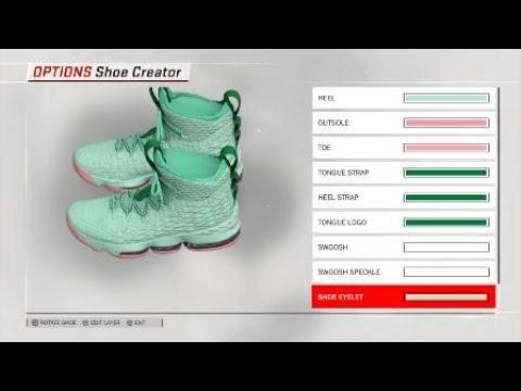Mint Green Lebron 15 for NBA 2K18 - YouTube