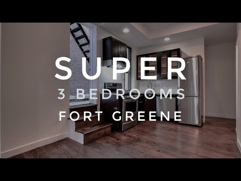 Video Tour of Incredible 3 Bedrooms Apartment in Prime Fort Greene with Private Outdoor Space! NYC