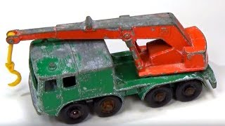 How to Replace Axles on Vintage Matchbox Cars (Matchbox No30 8 Wheel Crane )