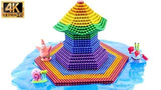 DIY - How To Make Rainbow Pagoda With Magnetic Balls (ASMR) | 100% Satisfying | Magic Balls 4K