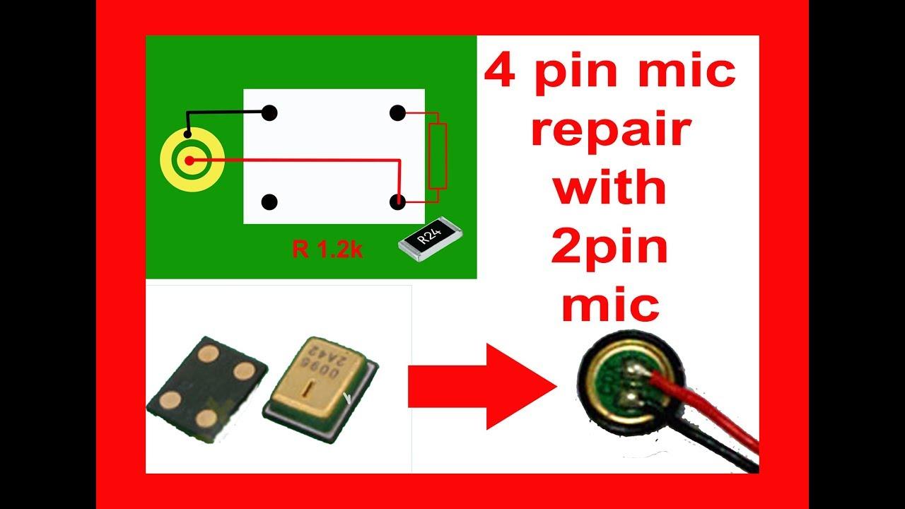 4 Pin Mic Repair With 2 Youtube Xtal Microphone Wiring Diagram