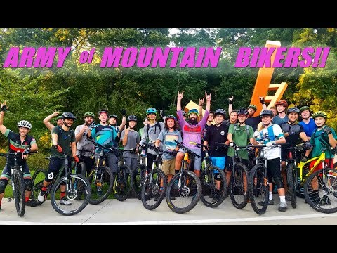 WHAT IT'S ALL ABOUT | Mountain Biking Bentonville With An ARMY OF BIKERS!!