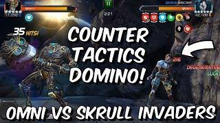 Omni VS Skrull Invaders Tier 1 Alliance War - Counter Tactics Domino - Marvel Contest of Champions