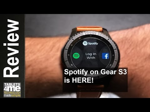 Samsung Gear S3 Frontier & Classic: SPOTIFY IS HERE! But for Premiumuser ONLY!