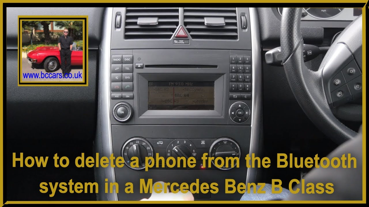 How to delete a phone from the bluetooth system in a for How to connect phone to mercedes benz
