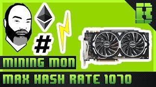 Nvidia Mining Ethereum 1070 GPU Overclock Settings Tutorial 2017 | Budget / Cheap Rig Windows 10