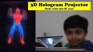 I made 3D Hologram Projector with CD Case | Easy Best Out of Waste 5 Min Craft | Spiderman Hologram