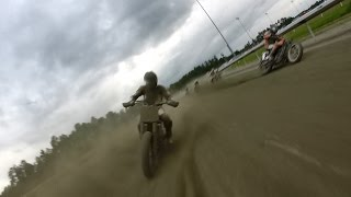 Two Laps at Virginia Mega Mile with Johnny Lewis - AMA Pro Flat Track
