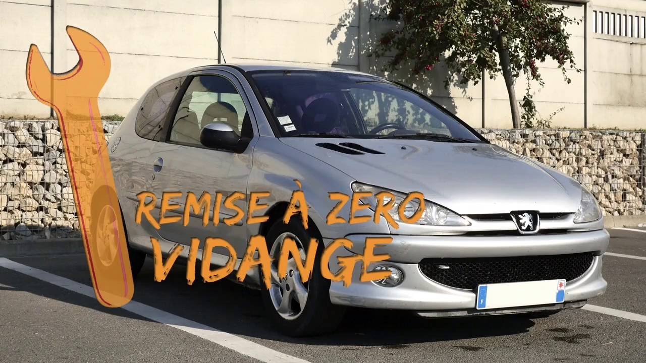 peugeot 206 remise z ro vidange tutoriel youtube. Black Bedroom Furniture Sets. Home Design Ideas
